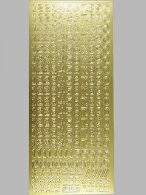 Bild Sticker Zahlen gold Starform Nr. 1286