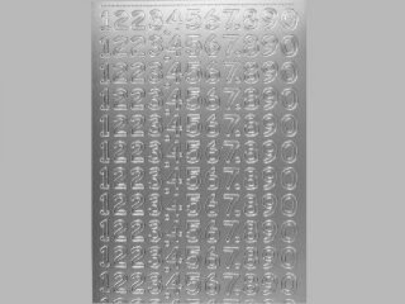 Bild Sticker Zahlen silber Starform Nr. 1286