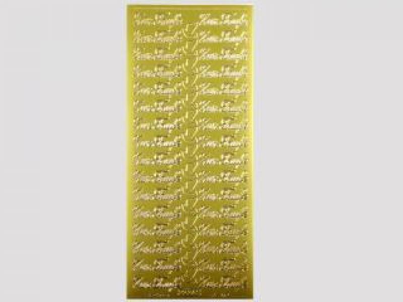 Bild Sticker Zur Taufe gold Starform 427
