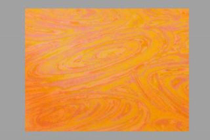 Bild Wachsplatte irisierend orange 200x100x0,5
