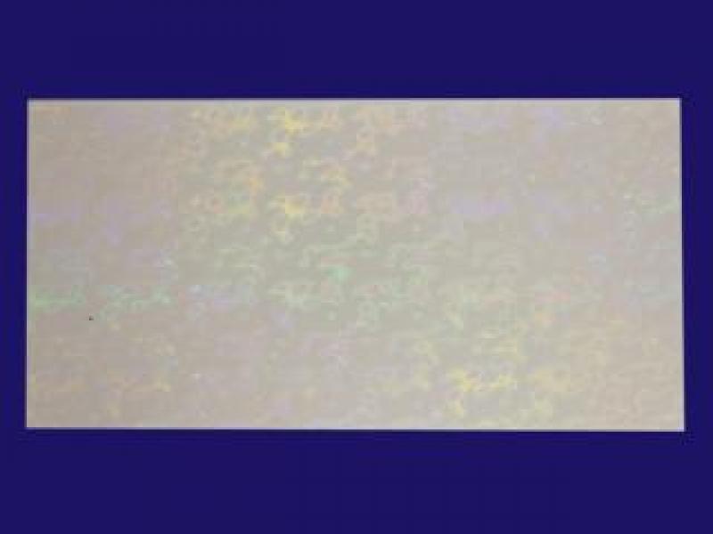 Bild Wachsplatte holografisch weiß