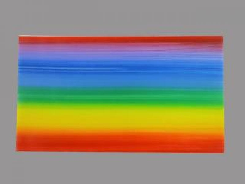 Bild 1 Wachsplatte Regenbogen