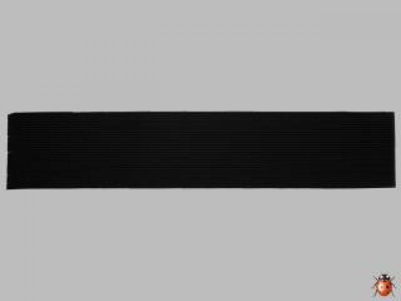 Bild Wachszierstreifen 2 mm x 200 mm flach 15 Stk schwarz
