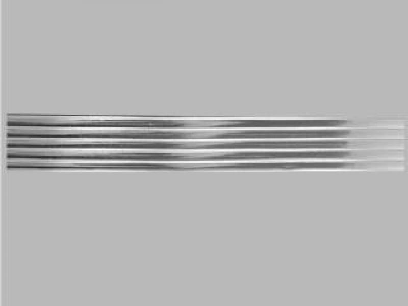 Bild Wachszierstreifen 5 mm x 200 mm flach silber glänzend 5 Stk