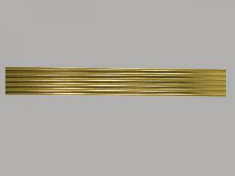 Bild Wachszierstreifen 5 mm x 200 mm rund gold glänzend 5 Stk