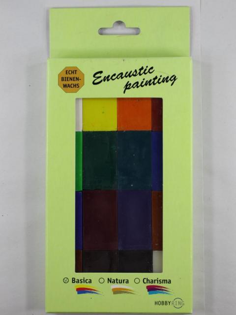 Bild Encaustic Wachsblockset Grundfarben